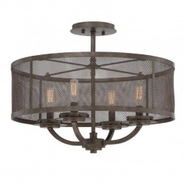 Savoy House Nouvel Convertible 4 Light Semi-Flush in Galaxy Bronze