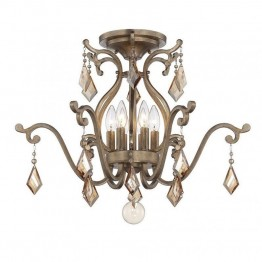 Savoy House Rothchild 6 Light Semi-Flush in Oxidized Silver