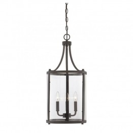 Savoy House Penrose 3 Light Small Foyer Lantern in English Bronze