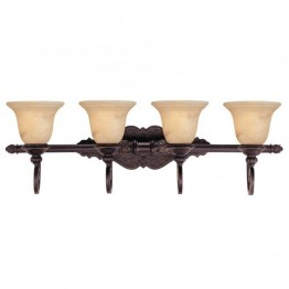 Savoy House Knight 4 Light Bath Bar in Antique Copper