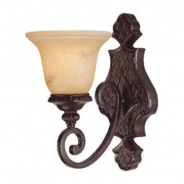 Savoy House Knight 1 Light Sconce in Antique Copper