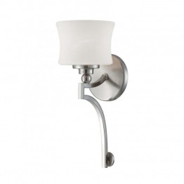 Savoy House Terrell 1 Light Sconce in Satin Nickel