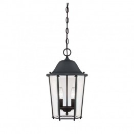 Savoy House Truscott 2 Light Hanging Lantern in Black