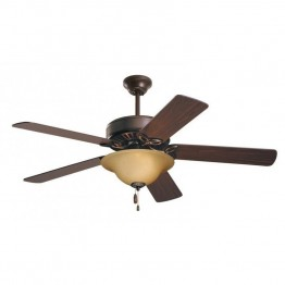 "Emerson Pro Series 50"""" Ceiling Fan with Light in Oil Rubbed Bronze"