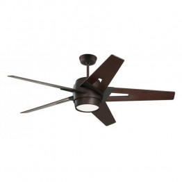 "Emerson Luxe Eco 54"""" Modern Ceiling Fan in Oil Rubbed Bronze and Dark Mahogany"