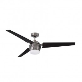 "Emerson 4th Avenue 60"""" Ceiling Fan with Light in Brushed Steel"