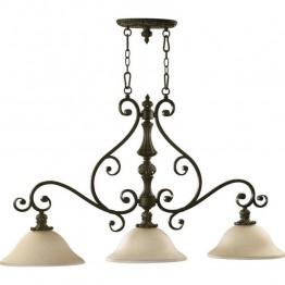 Quorum Fulton 3 Light Island Light in Classic Bronze