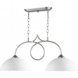 Quorum Brooks 2 Light Island Light in Satin Nickel