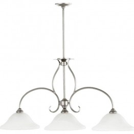 Quorum Spencer 3 Light Island Light in Classic Nickel
