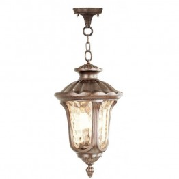 Livex Oxford Outdoor Chain Hang in Moroccan Gold