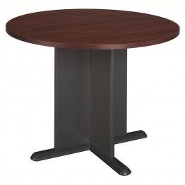 Bush Business Furniture Round 3.4 Conference Table in Hansen Cherry