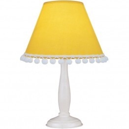 Lite Source Pompom Table Lamp in Light Yellow