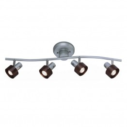 Lite Source Duccio 4 Light Track Light in Silver