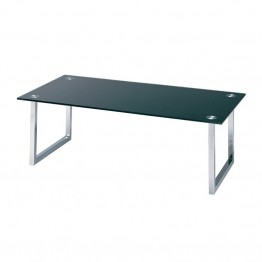 Lite Source Dane Glass Top Coffee Table in Chrome
