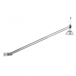 Dainolite Antenna Lamp with Plastic Swival Base in Polished Chrome