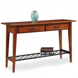 Leick Latisse Console Table in Westwood Oak