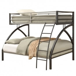 Coaster Twin over Full Bunk Bed in Gunmetal
