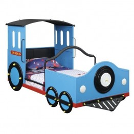 Coaster Novelty Twin Train Bed in Blue