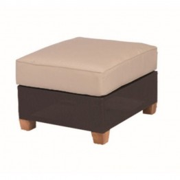 Three Birds Casual Ciera Patio Ottoman in Coffee