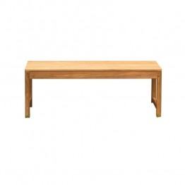 Three Birds Casual Charleston 4' Patio Backless Bench in Teak