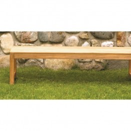 Three Birds Casual Charleston 5' Patio Backless Bench in Teak