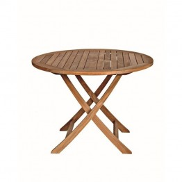 Three Birds Casual Cambridge Round Patio Bistro Table in Teak