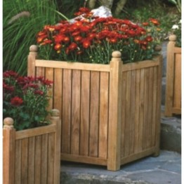 "Three Birds Casual 22"""" x 22"""" Planter Box in Teak"