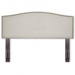 Fashion Bed Carlisle Full/Queen Upholstered Headboard in Grande Pearl