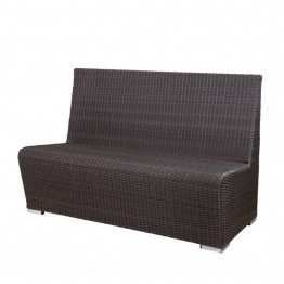 Source Outdoor Boca Booth Patio Bench in Espresso