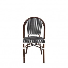 Source Outdoor Paris Patio Dining Side Chair in Black