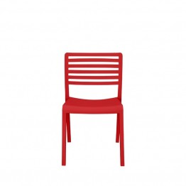 Source Outdoor Savannah Patio Side Chair in Red