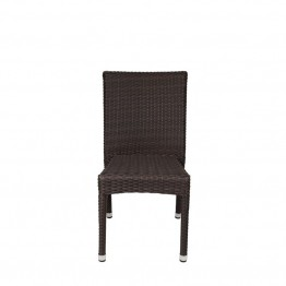 Source Outdoor Sierra Patio Dining Side Chair in Espresso