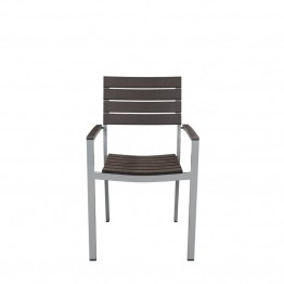 Source Outdoor Vienna Patio Arm Chair in Espresso