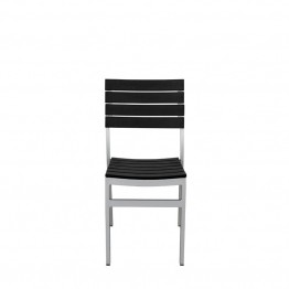 Source Outdoor Vienna Patio Side Chair in Black