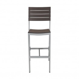Source Outdoor Vienna Armless Patio Bar Stool in Espresso
