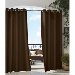"Commonwealth Gazebo 84"""" Grommet Curtain Panel in Chocolate"