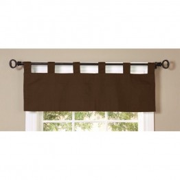 Commonwealth Thermalogic Weathermate Solid Tab Valance in Chocolate