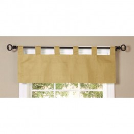 Commonwealth Thermalogic Weathermate Solid Tab Valance in Khaki