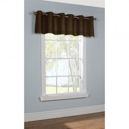 Commonwealth Thermalogic Insulated Grommet Valance in Chocolate