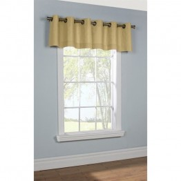 Commonwealth Thermalogic Insulated Grommet Valance in Khaki