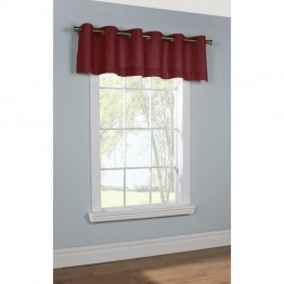 Commonwealth Thermalogic Insulated Grommet Valance in Burgundy