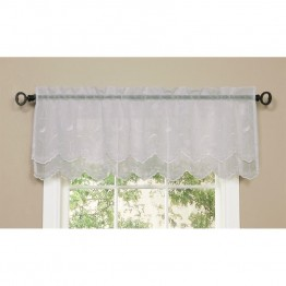 Commonwealth Hathaway Rod Pocket Linen Valance in White
