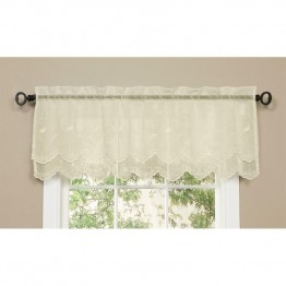 Commonwealth Hathaway Rod Pocket Linen Valance in Cream