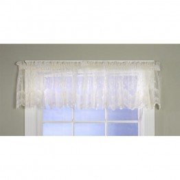 Commonwealth Mona Lisa Bridal Lace Rod Pocket Valance in Shell