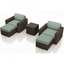 Harmonia Living Arden 5 Piece Patio Lounge Set in Canvas Spa