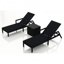 Harmonia Living Urbana 3 Piece Patio Lounge Set