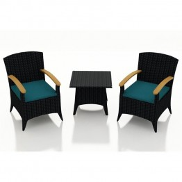 Harmonia Living Arbor 3 Piece Patio Bistro Set in Spectrum Peacock