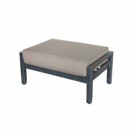 Sunvilla Belize Wicker Patio Ottoman in Shale