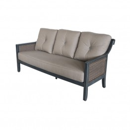 Sunvilla Belize Wicker Patio Sofa in Shale
