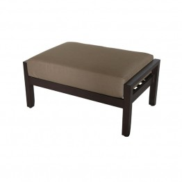 Sunvilla Biscay Wicker Patio Ottoman in Caribou